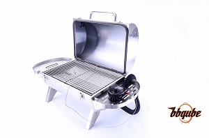 Kamado-Go 275 Auto-Temp Portable Charcoal Insulated Grill, Heavy Gauge 304 Stainless Steel, 275 sq in Cooking Surface