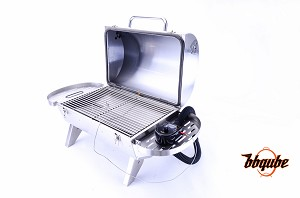 Kamado-Go 275 Auto-Temp Portable Charcoal Grill, Heavy Gauge 304 Stainless Steel, 275 sq in Cooking Surface